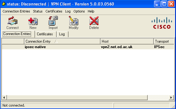 Configuring Peer response timeout on cisco VPN client